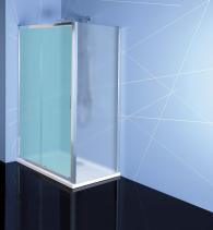 Polysan EASY LINE boční stěna 800mm, sklo BRICK EL3238