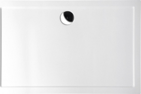 Polysan KARIA sprchová vanička z litého mramoru, obdélník 100x80x4cm, bílá 45511