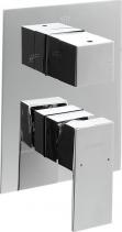 Sapho LATUS podomítková sprchová baterie, 3 výstupy, chrom 1102-44