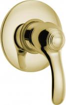 Sapho KIRKÉ podomítková sprchová baterie, 1 výstup, zlato KI41Z