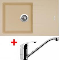 Granitový dřez Sinks LINEA 780 N Sahara+PRONTO LI78050NPRCL