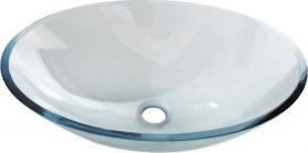 Sapho PURE skleněné umyvadlo oválné 52x37, 5 cm, čirá 2501-12