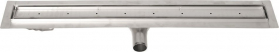 Gelco MANUS PIASTRA nerezový sprchový kanálek s roštem pro dlažbu, 1150x130x55 mm GMP87