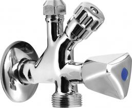 Aqualine Kombinovaný ventil 1/2'x3/4'x3/8', chrom 5309