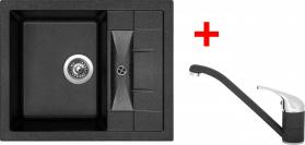 Granitový dřez Sinks CRYSTAL 615 Granblack+CAPRI 4 GR UKCR615CA430