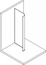 Polysan MODULAR SHOWER zaoblená pevná zástěna R550, 907 mm MS1-100-C