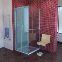 Polysan LUCIS LINE sprchová boční stěna 900mm, čiré sklo DL3415