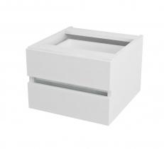 Sapho AVICE 2x zásuvka 45x30x48cm, bílá AV061