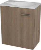 Sapho LATUS II umyvadlová skříňka 41, 6x50x25cm, Ořech bruno 55590