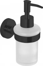 Aqualine SAMBA dávkovač mýdla 150ml, mléčné sklo, černá SB219
