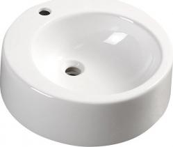 Aqualine BROOK keramické umyvadlo průměr 50 cm, na desku, bílá FS16A