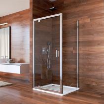 Mereo Sprchový kout, Lima, čtverec, 100x100x190 cm, chrom ALU, sklo Čiré, dveře pivotové CK86933K