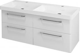 Sapho THEIA dvojumyvadlová skříňka 116x50x44, 2cm, 4xzásuvka, bílá TH120