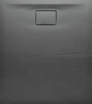 Sapho ACORA vanička z litého mramoru, obdélník 120x90x3, 5cm, šedá, dekor kámen AC025