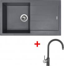 Granitový dřez Sinks AMANDA 860 Titanium+VITALIA GR AM86072VIGR72