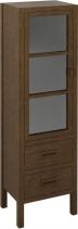 Sapho BRAND skříňka 2 šuplíky, prosklená dvířka 40x140x30cm, levá, mořený smrk BA031