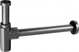 Sapho SPY umyvadlový sifon 1'1/4, dpad 32mm, černá mat PY36/15