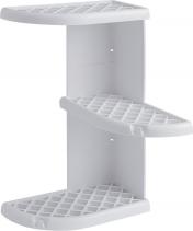 Gedy OSCAR rohová polička do sprchy 230x375x230 mm, ABS plast, bílá 8579