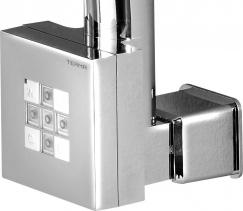 Sapho KTX topná tyč s termostatem, s krytem pro kabel, 400 W, Chrom KTX-CW-400