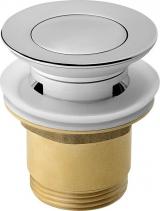 Aqualine Uzavíratelná umyvadlová výpust kulatá, click clack, malá zátka, V 35-55mm, chrom TF8001