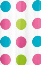 Aqualine Sprchový závěs 180x180cm, vinyl, růžové puntíky ZV018