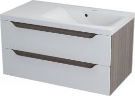 Sapho WAVE umyvadlová skříňka 89, 7x45x47, 8cm, pravá, bílá/mali wenge WA091P