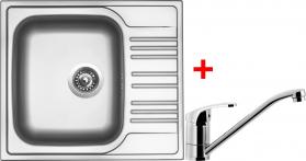 Nerezový dřez Sinks STAR 580 V+PRONTO ST580VPRCL