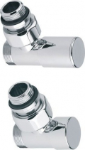 Sapho COMPACT připojovací sada ventilů ruční rohová, chrom CP5015