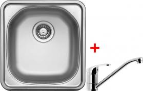 Nerezový dřez Sinks COMPACT 435 V+PRONTO CMM4655VPRCL