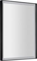 Sapho SORT LED podsvícené zrcadlo 47x70cm, matná černá ST047