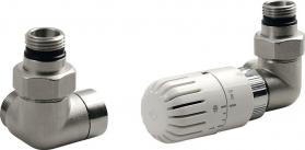 Aqualine ECO připojovací sada termostatická, pravá, nikl/bílá CP9912R
