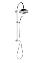 Reitano Rubinetteria ANTEA sprchový sloup k napojení na baterii, hlavová a ruční sprcha, chrom SET031