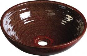 Sapho ATTILA keramické umyvadlo, průměr 46, 5 cm, purpurově červená DK013