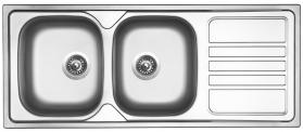 Nerezový dřez Sinks OKIO 1200 DUO V 0,7mm leštěný RDOKL12050027V