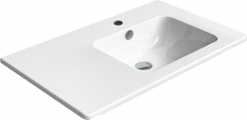 GSI PURA umyvadlo s odkládací plochou vlevo, 80x50 cm, bílá ExtraGlaze 8857111