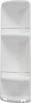 Gedy CAESAR třípatrová rohová polička do sprchy 226x710x160 mm, ABS plast, bílá 7081