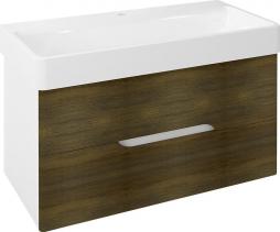Sapho MEDIENA umyvadlová skříňka 96, 5x50, 5x48, 5cm, bílá mat/dub graphite MD101