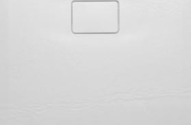 Sapho ACORA vanička z litého mramoru, obdélník 100x80x3, 5cm, bílá, dekor kámen AC003