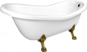 Polysan RETRO volně stojící vana 158x73x72cm, nohy bronz, bílá 37132