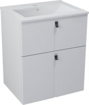 Sapho MITRA umyvadlová skříňka 59, 5x70x45, 2 cm, bílá MT061