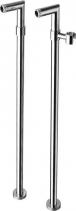 Reitano Rubinetteria Připojení pro instalaci vanové baterie do podlahy (pár), chrom 9881