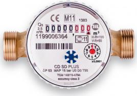 "Novaservis Vodoměr jednovtokový suchoběžný do 30C 1/2"" CDSD15AFPLUS"
