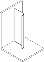 Polysan MODULAR SHOWER jednodílná zástěna pevná k instalaci na zeď, R550, 907 mm MS1-100-C