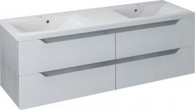 Sapho WAVE dvojumyvadlová skříňka 149, 7x50x47, 8cm, bílá/dub stříbrný (WA152) WA150-3011