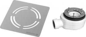Polysan FLEXIA vaničkový sifon, průměr 90mm, DN40, krytka nerez 10362