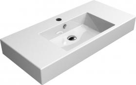 GSI KUBE umyvadlo 100x47 cm, s odkladnými plochami, bílá ExtraGlaze 8951111