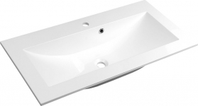 Sapho YUKON umyvadlo 80x45cm, litý mramor, bílá YU080