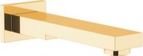 Sapho Nástěnná výtoková hubice, hranatá, 180mm, zlato BO417
