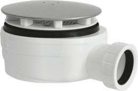 Polysan Vaničkový sifon, průměr otvoru 90 mm, DN40, nízký, krytka chrom 1716C