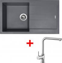 Granitový dřez Sinks AMANDA 860 Titanium+ELKA AM86072ELCL
